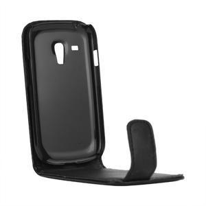 Flipové puzdro pro Samsung Galaxy S3 mini i8190- čierne - 4