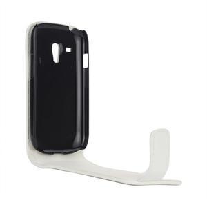 Flipové pouzdro pro Samsung Galaxy S3 mini i8190- bílé - 4