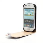 Flipové kožené puzdro pre Samsung Galaxy S3 mini / i8190 - motýlek - 4/6