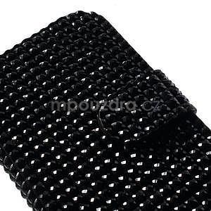 Čierné puzdro pre Samsung Galaxy S3 mini / i8190 - kamínkové - 4