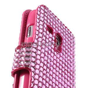 Růžové puzdro pre Samsung Galaxy S3 mini / i8190 - kamínkové - 4