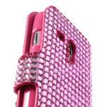 Růžové puzdro pre Samsung Galaxy S3 mini / i8190 - kamínkové - 4/5
