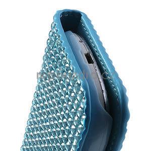 Modré puzdro pre Samsung Galaxy S3 mini / i8190 - kamínkové - 4