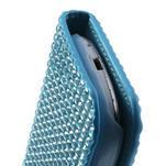 Modré puzdro pre Samsung Galaxy S3 mini / i8190 - kamínkové - 4/5