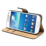 Peněženkové PU kožené pouzdro na Samsung Galaxy S4 mini i9190- černé - 4/7
