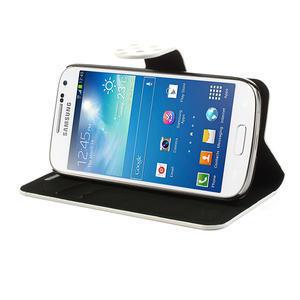 Peňaženkové puzdro na Samsung Galaxy S4 mini i9190- puntíkaté biele - 4