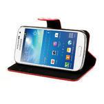 Peňaženkové puzdro na Samsung Galaxy S4 mini i9190- puntíkaté červené - 4/7