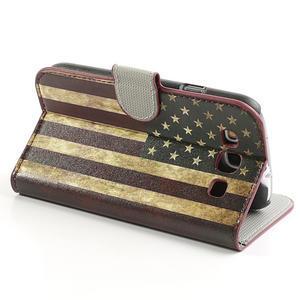 Peňaženkové puzdro pre Samsung Galaxy S3 i9300- USA vlajka - 4
