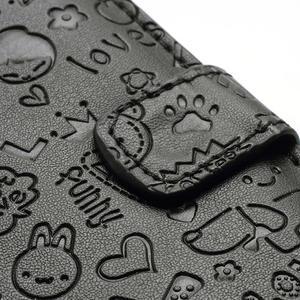 Peňaženkové puzdro pre Samsung Galaxy S3 i9300- čierné - 4