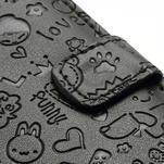 Peňaženkové puzdro pre Samsung Galaxy S3 i9300- čierné - 4/6
