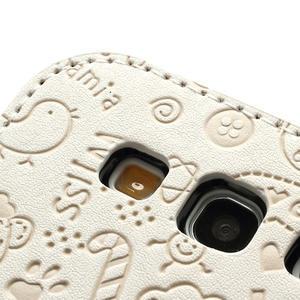 Peňaženkové puzdro na Samsung Galaxy S3 i9300- biele - 4