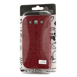 Peňaženkové puzdro na Samsung Galaxy S3 i9300- červené - 4