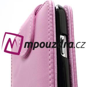 Flipové pouzdro pro Samsung Galaxy S4 i9500- světle-růžové - 4