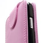 Flipové pouzdro pro Samsung Galaxy S4 i9500- světle-růžové - 4/5