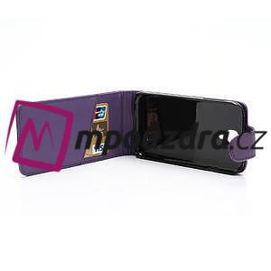 Flipové puzdro pro Samsung Galaxy S4 i9500-fialové - 4