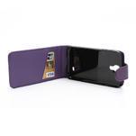 Flipové puzdro pro Samsung Galaxy S4 i9500-fialové - 4/5