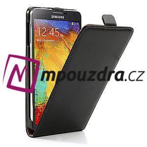 Flipové kožené puzdro pre Samsung Galaxy Note 3- čierné - 4