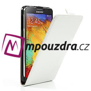 Flipové kožené puzdro na Samsung Galaxy Note 3- biele - 4