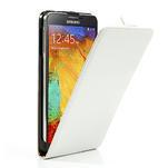 Flipové kožené puzdro na Samsung Galaxy Note 3- biele - 4/6