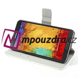 Peňaženkové puzdro pre Samsung Galaxy Note 3- farebné kvety - 4