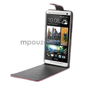 Flipové puzdro HTC one Max- růžové - 4
