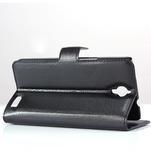 Peňaženkové kožené puzdro na Alcatel One Touch Idol OT-6030D- čierné - 4/6
