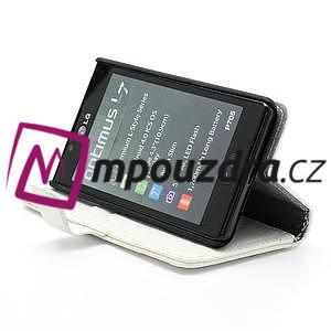 Peňaženkové puzdro na LG Optimus L7 P700 - biele - 4