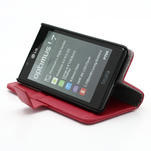 Peňaženkové puzdro na LG Optimus L7 P700 - červené - 4/7