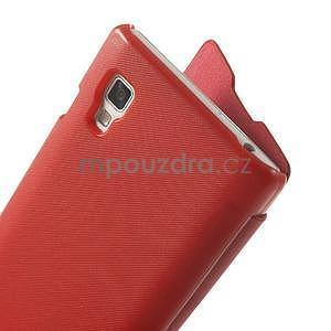 Flipové puzdro pre LG Optimus L9 P760- červené - 4