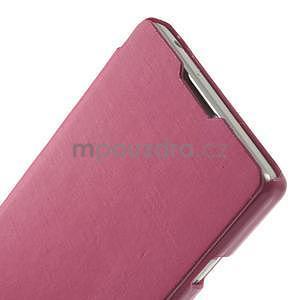 Flipové puzdro pre LG Optimus L9 P760- růžové - 4