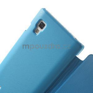 Flipové puzdro pre LG Optimus L9 P760- modré - 4