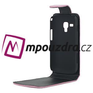 Flipové puzdro pre Samsung Trend plus, S duos -růžové - 4