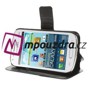 Peňaženkové puzdro na Samsung Trend plus, S duos - čierné - 4