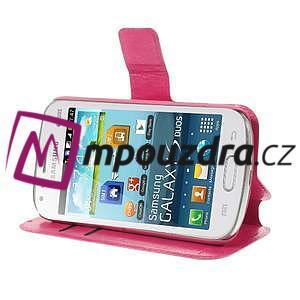 Peňaženkové puzdro na Samsung Trend plus, S duos - růžové - 4