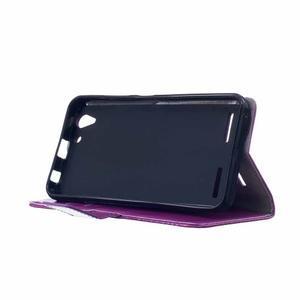 Knížkové PU kožené puzdro pre Lenovo Vibe K5 / K5 Plus - fialové - 4