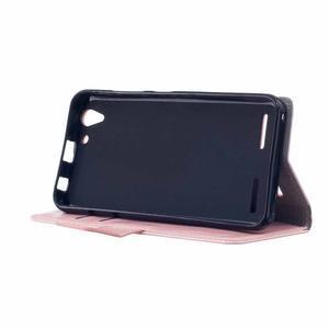 Knížkové PU kožené pouzdro na Lenovo Vibe K5 / K5 Plus - růžové - 4