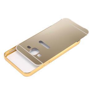 Odolný obal s kovovým obvodem na Samsung Galaxy J5 (2016) - zlatý - 4