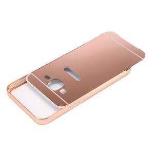Odolný obal s kovovým obvodem na Samsung Galaxy J5 (2016) - růžovozlatý - 4
