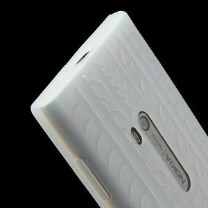 Silokonové PNEU puzdro na Nokia Lumia 920- biele - 4