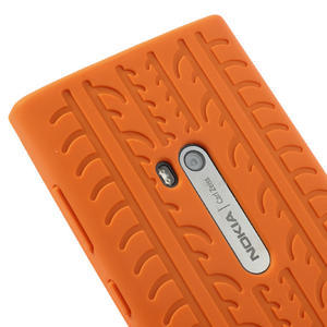 Silokonové PNEU puzdro na Nokia Lumia 920- oranžové - 4