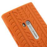 Silokonové PNEU puzdro na Nokia Lumia 920- oranžové - 4/5