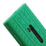 Silokonové PNEU puzdro na Nokia Lumia 920- zelené - 4/5
