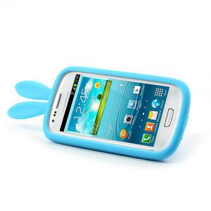 Silikonový králík pro Samsung Galaxy S3 mini i8190- modrý - 4
