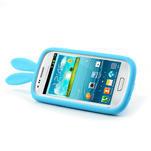 Silikonový králík pro Samsung Galaxy S3 mini i8190- modrý - 4/7