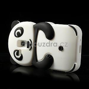 3D Silikonové puzdro pre Samsung Galaxy S3 mini / i8190 - vzor čierná panda - 4