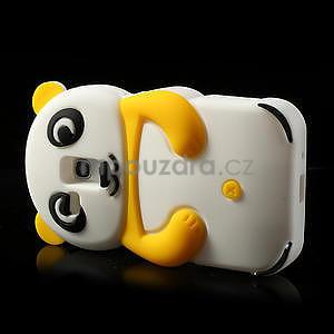 3D Silikonové puzdro pre Samsung Galaxy S3 mini / i8190 - vzor žltá panda - 4