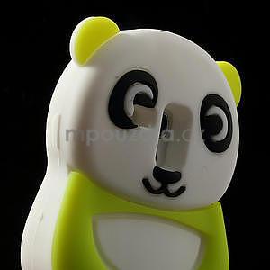 3D Silikonové puzdro pre Samsung Galaxy S3 mini / i8190 - vzor zelená panda - 4