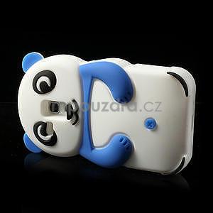 3D Silikonové puzdro pre Samsung Galaxy S3 mini / i8190 - vzor modrá panda - 4