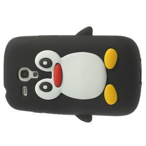 Silikonový tučniak puzdro pre Samsung Galaxy S3 mini i8190- čierny - 4