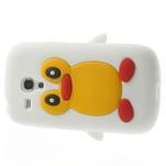 Silikonový TUČŃÁK puzdro na Samsung Galaxy S3 mini i8190- biely - 4/7